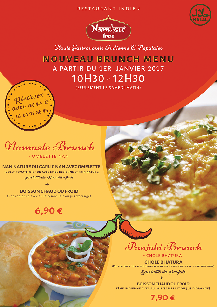 Nouveau Brunch Menu Namaste Brunch & Punjabi Brunch